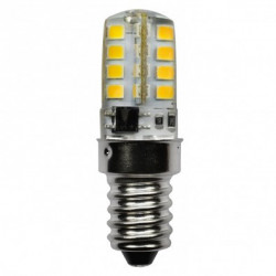 LED-SB3KE14120V LED Light Bulb: 3 watt, 120 volt, 3000K, T5.5, E14