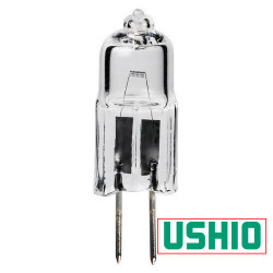 JC6V-20W/G4 Ushio 1000866 Light Bulb: 20 watt, 6v, T2.5 halogen, G4