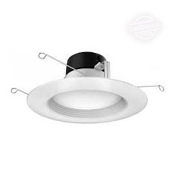 Satco S9743 LED 5-6 Inch Round Retrofit Can Light: 17 watt, 5000K
