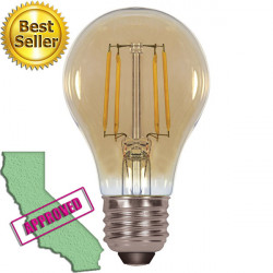 Satco S9583 LED Light Bulb: 4.5 watt, 2000K vintage tinted A19
