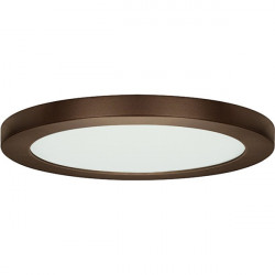 Satco S9651 LED Fixture: 25 watt, dimmable, 3000K, round 13 inch