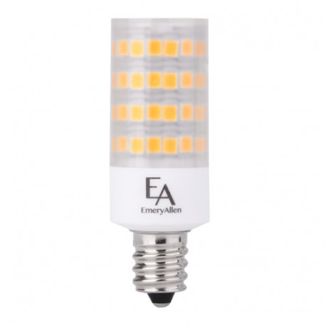EA-E12-5.0W LED Light Bulb: replaces 50 watt, 3000K, T6.5, E12