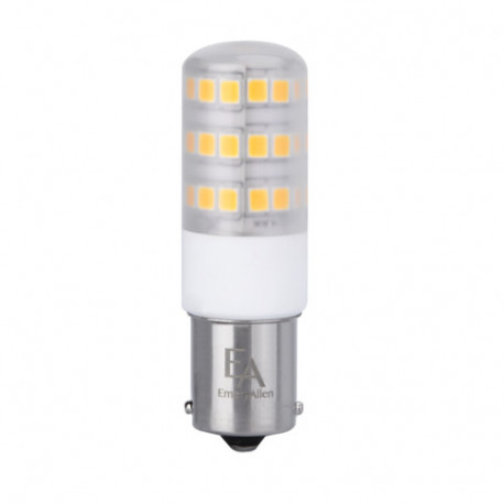EA-BA15S-4.0W LED Light Bulb: 4 watt, 12 volt, 3000K, T5.5, BA15S