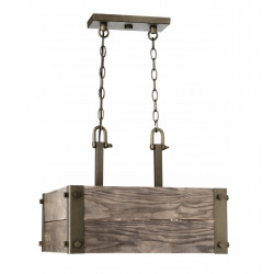 FIX/WINCHESTER/SQUARE/PENDANT/15.25IN/240W/OLDWOOD