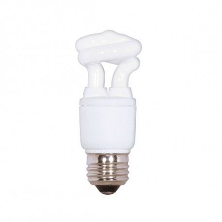 5T2/27 Satco S5501 Mini CFL Light Bulb: 5 watt, 120 volt, 2700K, T2