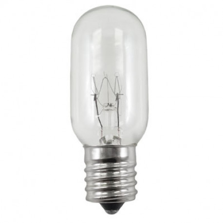 25T8N-130V-INT Light Bulb: 25 watt, 130 volt, clear, T8, E17