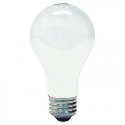 25A/W GE 97492 Light Bulb: 25 watt, 120 volt, frosted white, A19, E26