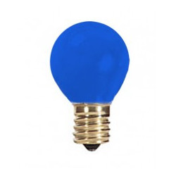 203B7G8-CB Light Bulb: 7 watt, 130 volt, ceramic blue, G8 globe, E12