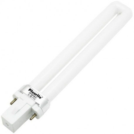 PL9W/1U/2P/827 Plusrite 4006 Light Bulb: 9 watt plug in CFL G23, 2700K