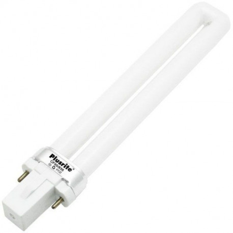 CF9S/835 Plusrite 4007 Light Bulb: 9 watt, 3500K, plug in CFL, G23
