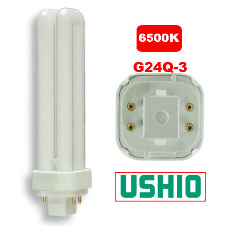 "PL26DE/65 Ushio 3000238 Light Bulb: 6.5"", 26 watt, 6500K CFL, G24Q-3"