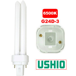PL26D/65/DIAGONAL Ushio 3000196 Light Bulb: 26 watt, 6500K CFL, G24D-3