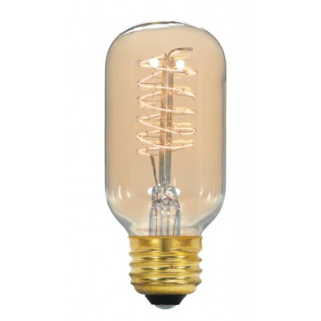 Satco S2416 Light Bulb: 40 watt, 120 volt, decorative T14 vintage E26