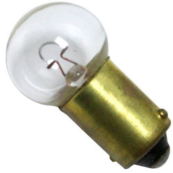 6251 Light Bulb: 5 watt, 6 volt, miniature G5 incandescent lamp, BA9