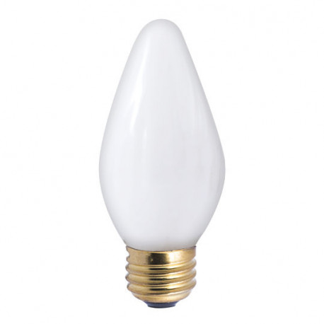 Bulbrite 421040 Light Bulb: 40 watt, white F15 flame etched lamp