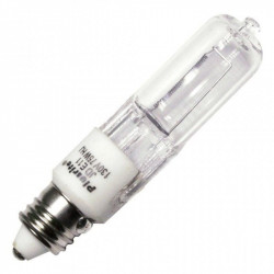 JD75/CL/E11/130 Plusrite 3470 Light Bulb: 100 watt, 130 volt, T4, E11