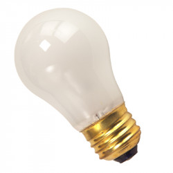 A15FR25 1 Halco 6015 Light Bulb: 25 watt, 130 volt, frosted, A15, E26