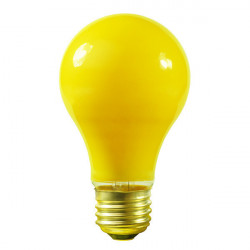 40A/YELLOW Halco 6354 Light Bulb: 40 watt, ceramic yellow, A19, E26