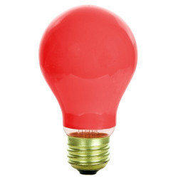 60A/CR-130 Halco 6352 Light Bulb: 60 watt, 130 volt, ceramic red A19