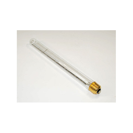 "75T8/CL Light Bulb: 11"", 75 watt, 120 volt, T8 incandescent tube, E26"