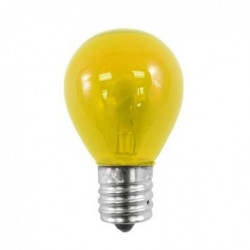 10S11N-130V-INT-CY Light Bulb: 10 watt, transparent yellow, S11, E17