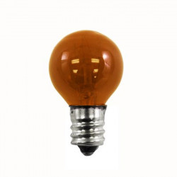 7G8/TA-130 Light Bulb: 7 watt, 130 volt, transparent amber G8, E12