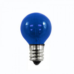 7G8-120V-CS-TB Light Bulb: 7 watt, transparent blue, G8 globe, E12
