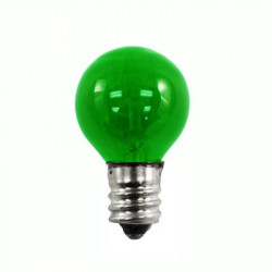 7G8/TG-130 Light Bulb: 7 watt, 130 volt, transparent green G8, E12