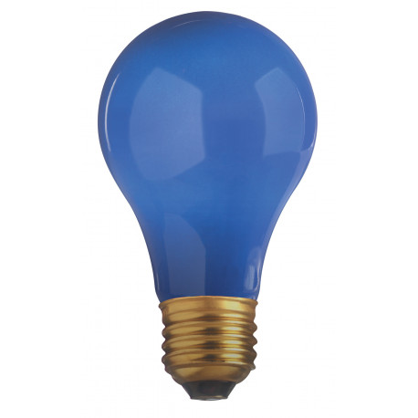 40A/CB-130 Satco S4981 Light Bulb: 40 watt, 130 volt, ceramic blue A19