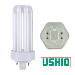 CF42TE/830 Ushio 3000253 Light Bulb: 42 watt plug in CFL GX24Q-4 3000K