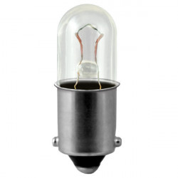 1906 Light Bulb: .35 watt, 5 volt, T3.25 indicator, BA9 single bayonet