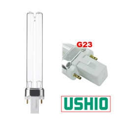PL9/UV Ushio 3000304 Light Bulb: 9 watt plug in UV germicidal CFL, G23