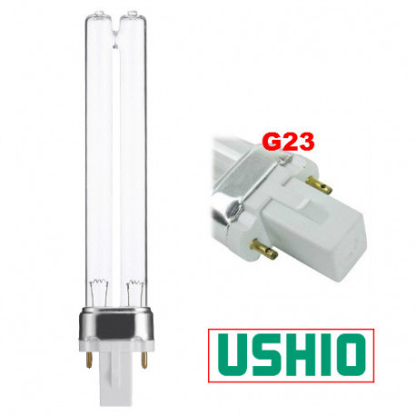 PL5/UV Ushio 3000321 Light Bulb: 5.5 watt, plug in UV germicidal CFL