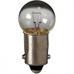 0055 Generic Miniature Bayonet Light Bulb: 2.87 watt 7 volt, G4.5, BA9