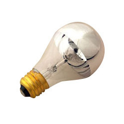 Halco 101180 Light Bulb: 60 watt, 120 volt, A19 1/2 silver bowl, E26