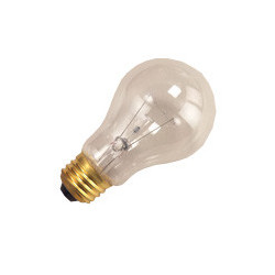 25A/CL-130 Light Bulb: 25 watt, 130 volt, clear A19, E26
