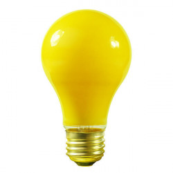 Bulbrite 103040 Yellow Bug Light Bulb: 40 watt, yellow, A19, E26