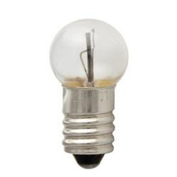 258 Blinker Light Bulb: 3.78 watt, 14 volt, flashing G4.5 globe E10