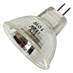 Q10MR11/FL-12 Light Bulb: 10 watt, 12 volt, MR11 mini halogen, G4