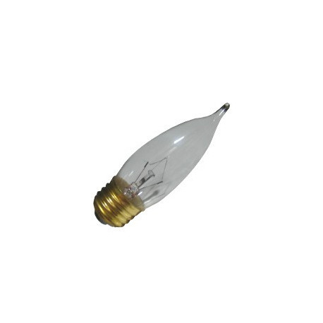 Halco 2015 Light Bulb: 25 watt, 130 volt, clear bent tip, E26