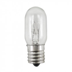 25T7N-130V-INT Light Bulb: 25 watt, 130 volt, clear T7, E17