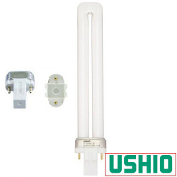 CF13S/865 Ushio 3000167 Light Bulb: 13 watt, plug in CFL 6500K, GX23