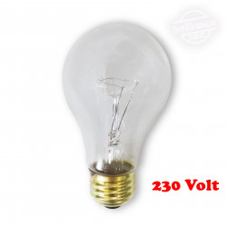75A/CL/E27-230 Light Bulb: 75 watt, 230 volt, clear A19, E26 / E27