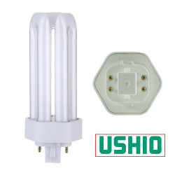 Ushio 3000224 Light Bulb: CF42TE/841, 42W, 4100K, GX24q-4, Plug In CFL