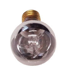 SILVER Light Bulb: 12 watt, bottom half chrome, G25 globe, E26