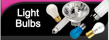 Light bulbs including incandescent, fluorescent, halogen, HID, CFL, ANSI coded, floods & spots, sign, microfilm & microfiche, navigation, and xenon lamps