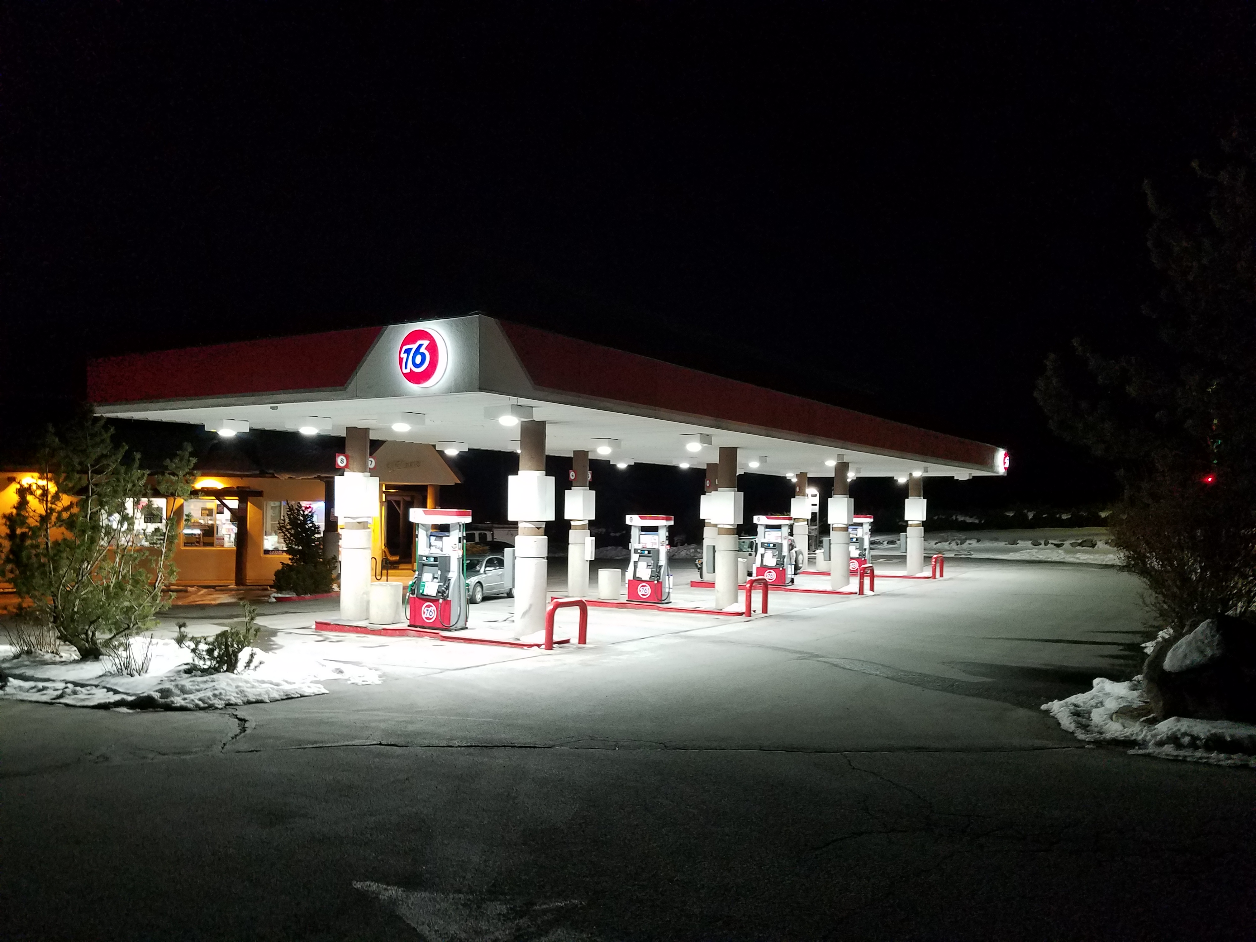 Galena Gas Station - Night Time